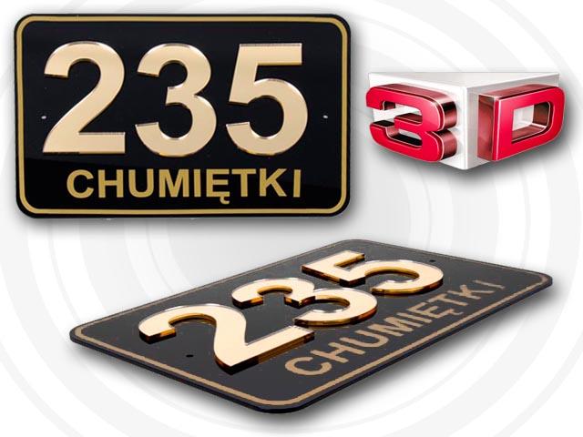 Oryginał TABLICZKA ADRESOWA, TABLICA NUMER, NUMERY DOM 3D FORMAT 20x15 cm WO65