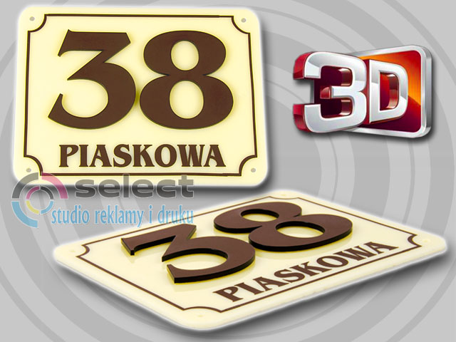 Oryginał TABLICZKA ADRESOWA, TABLICA NUMER,NUMERY DOM 40x30 VU14